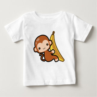 Cute Baby Monkey Whit A Banana Baby T-Shirt