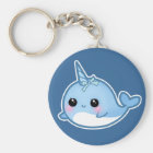 Cute baby narwhal key ring
