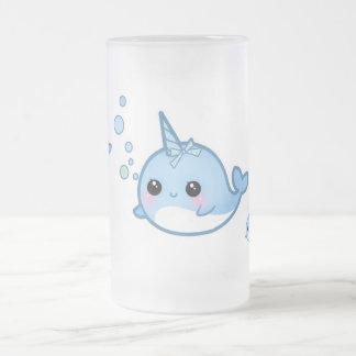 Cute baby narwhal mug
