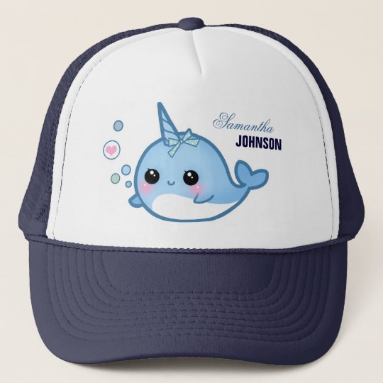 Cute baby narwhal - Personalised Trucker Hat
