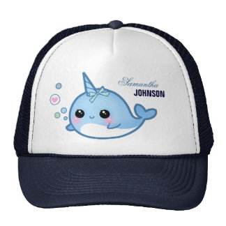 Cute baby narwhal - Personalized Cap