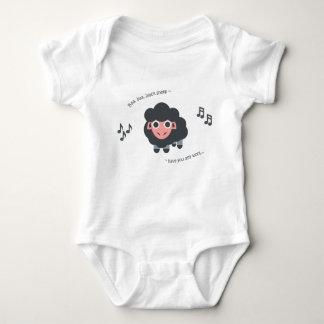 Cute baby nursery rhyme bodysuit ba ba black sheep