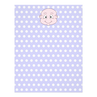 Cute Baby on lilac polka dot pattern Full Color Flyer