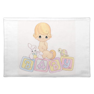 Cute Baby on Toy Blocks Placemat