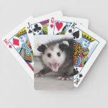Cute Baby Opossum Photo Playing Cards