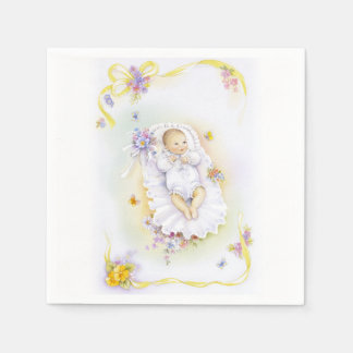 Cute baby or infant baptism bowl chin disposable serviette