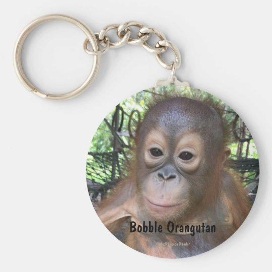 Cute Baby Orangutan Orphan in Borneo Key Ring