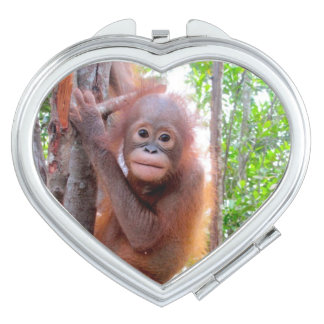 Cute Baby Orangutan Uttuh Vanity Mirror