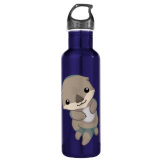 Cute Baby Otter Pup 710 Ml Water Bottle