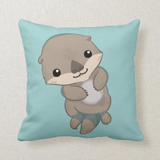 Cute Baby Otter Pup Cushion