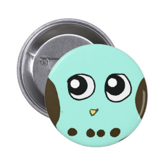 Cute baby owl button