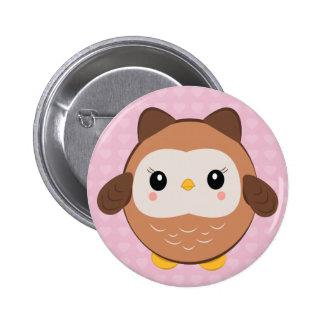 Cute Baby Owl button