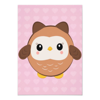 Cute Baby Owl Invitations
