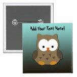 Cute Baby Owl Personalised Badge