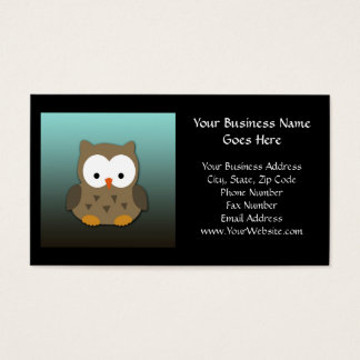 Cute Baby Owl Personalized Business Card