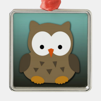 Cute Baby Owl Personalized Christmas Ornament