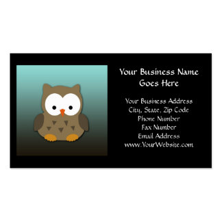 Cute Baby Owl Personalized Pack Of Standard Business Cards