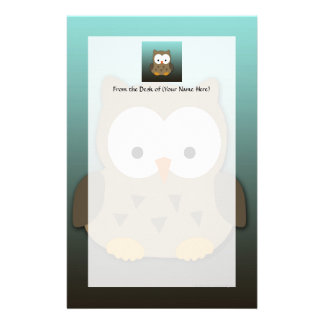 Cute Baby Owl Personalized Stationery