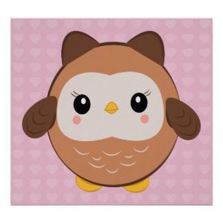 Cute Baby Owl poster
