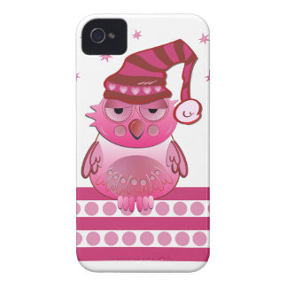 Cute Baby Owl with Nightcap iPhone 4 case