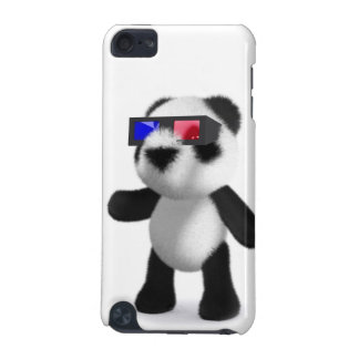 Cute Baby Panda 3d Glasses iPod Touch (5th Generation) Cases