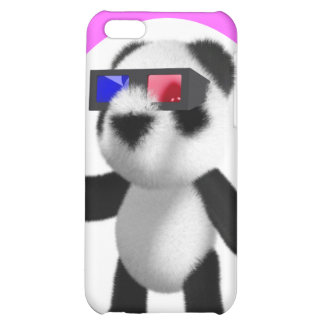 Cute Baby Panda 3d Glasses Case For iPhone 5C