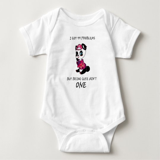 Cute Baby Panda Baby Bodysuit