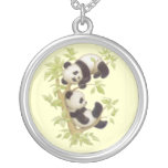 Cute Baby Panda Bears Necklaces