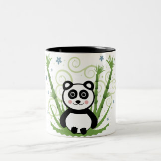 Cute Baby Panda Two-Tone Coffee Mug