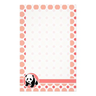 Cute Baby Panda Stationery