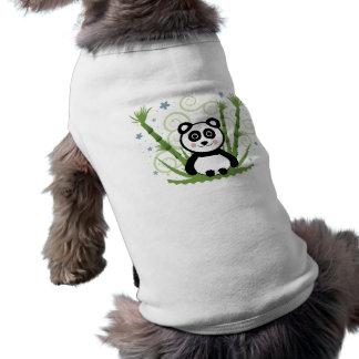 Cute Baby Panda Sleeveless Dog Shirt