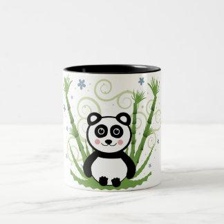 Cute Baby Panda Two-Tone Mug