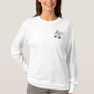 Cute Baby Penguin and Igloo Embroidered Long Sleeve T-Shirt