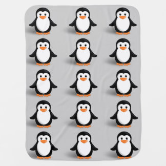 Cute Baby Penguin Baby Blanket
