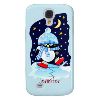 Cute baby penguin + custom name galaxy s4 case