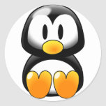 Cute Baby Penguin - Customizeable Round Stickers
