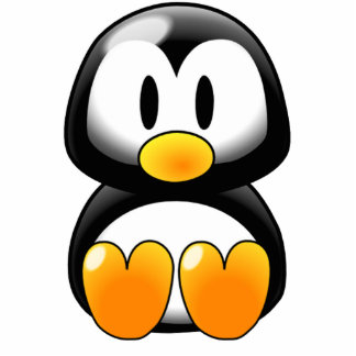 Cute Baby Penguin - Customizeable Standing Photo Sculpture
