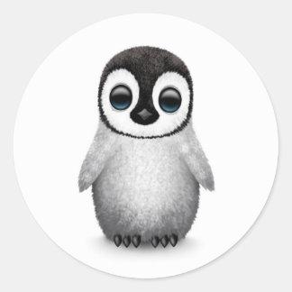 Cute Baby Penguin on White Sticker
