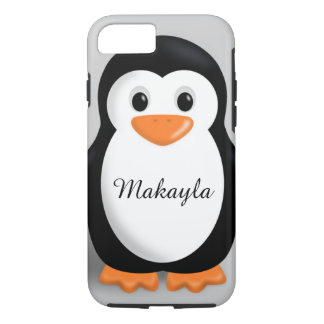 Cute Baby Penguin Personalized Name iPhone 7 Case