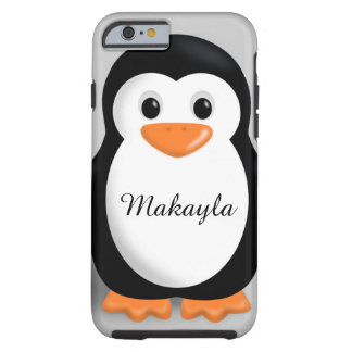 Cute Baby Penguin Personalized Name Tough iPhone 6 Case