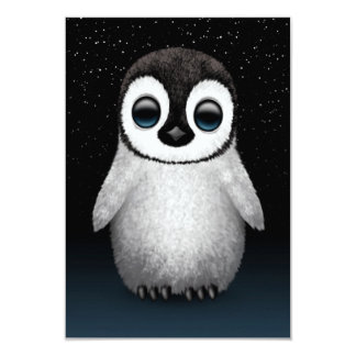 Cute Baby Penguin with Stars Invite