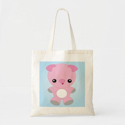 Cute Baby Pig Canvas Bags
