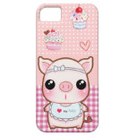 Cute baby piggy and kawaii cupcakes case for the iPhone 5
