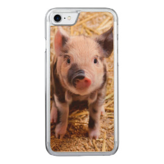 Cute Baby Piglet Farm Animals Babies Carved iPhone 8/7 Case