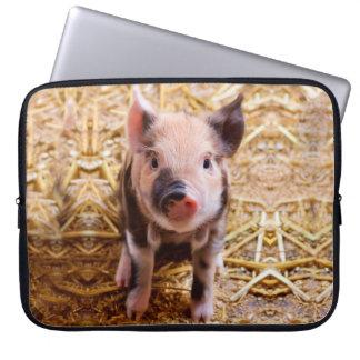 Cute Baby Piglet Farm Animals Babies Computer Sleeves