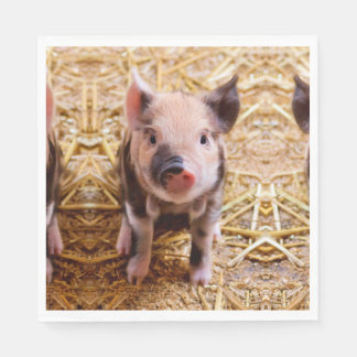 Cute Baby Piglet Farm Animals Babies Disposable Serviette
