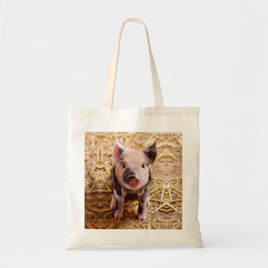 Cute Baby Piglet Farm Animals Babies Tote Bag