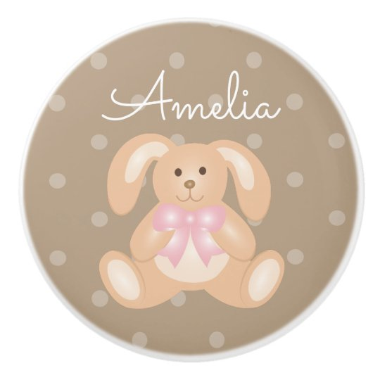 Cute Baby Pink Bunny Rabbit Sweet Girls Nursery