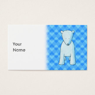 Cute baby polar bear. business card