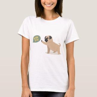 Cute baby pug doing high five T-Shirt